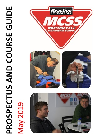 Motorcycle Suspension School Prospectus and Course Guide May 2019