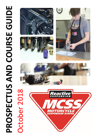 Motorcycle Suspension School Prospectus and Course Guide October 2018